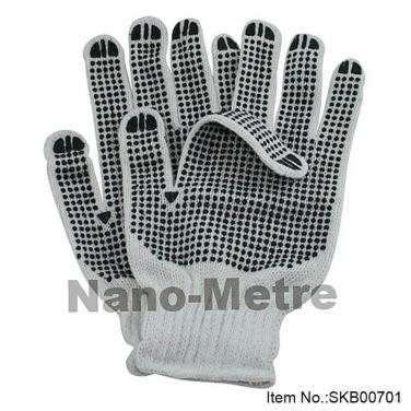 7 Gauge Bleached Polycotton String Knitted Glove -SKB00702