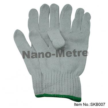 7 Gauge White Labor Working Gloves - SKB007