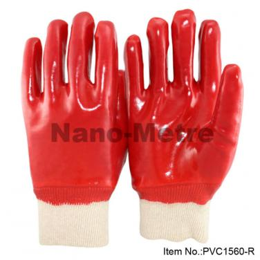 Cotton Interlock Full Coated Red PVC Glove -PVC1560-R