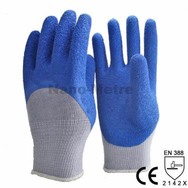 Blue Latex 3/4 Dipped Palm Durability Work Glove -NM10920-GR/B