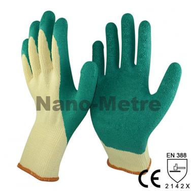 Green Latex Dipped On Palm and Thumb Finger Work Glove  -NM10902T-Y/GN