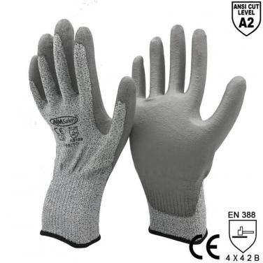ANST CUT 2 HPPE Cut Resistant Work Gloves Safety Protective Factory-  DY110DG-PU