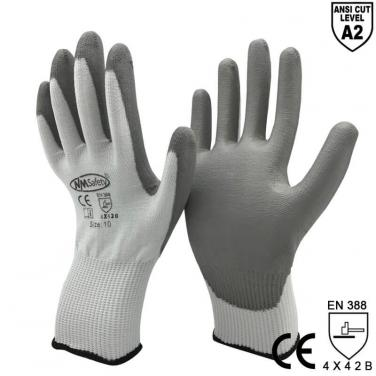 ANST CUT 2 Soft Type Anti-Cut Mechanic Work Glove Manufacturer- DY110-PU-GR