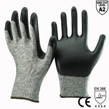 ANST CUT 2 Smooth Nitrile Plam Cut Glove - DY1350DG-BLK