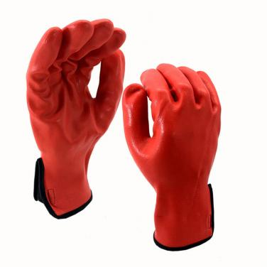 Nylon&Spandex Knitted Liner Full Coated Red High-tec Foam Nitrile Glove - NY1359FRB