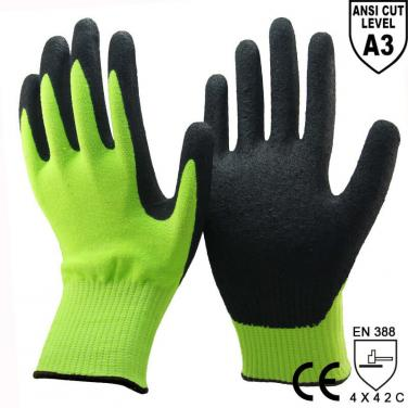 ANSI CUT 3 New Cut Resistant Protective Work Gloves - DY1350F-H
