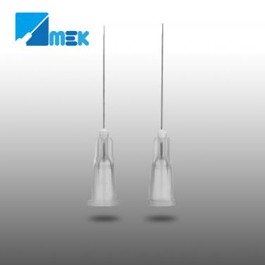 Dental irrigation needle half cut type