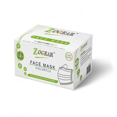 ZOGEAR PB001 disposable 3ply face mask?