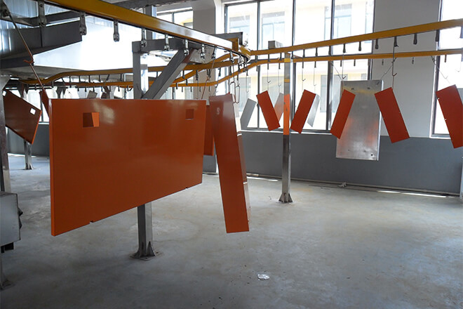 Sheet metal powder coating service