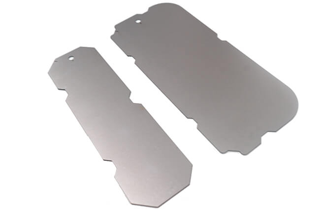 Fixed backing metal plate