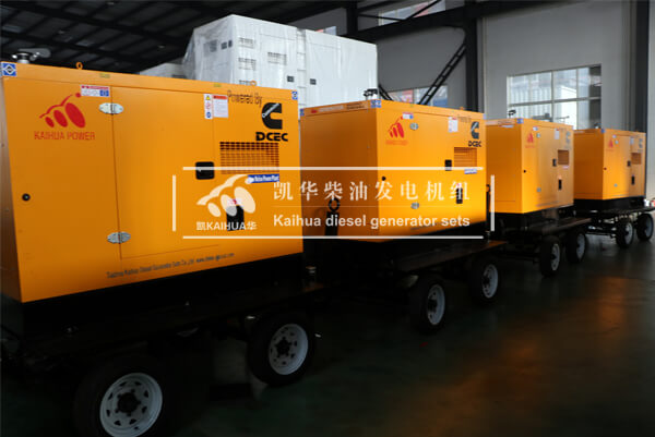 4 Sets 50KW Mobile Diesel Generators havs been sent to Singapore successfully