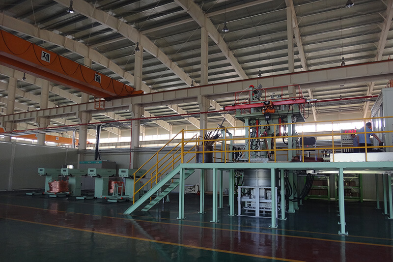 Upcast continuous casting machine