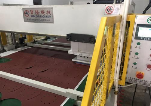 Auto Sandpaper Die Cutting Press