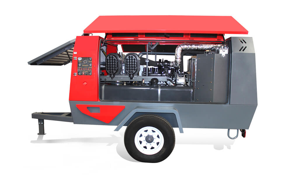 Diesel Portable Screw Air Compressor