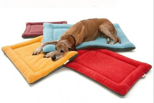 Colorful Large Cotton Soft Paw Print Dog BedWarm Fleece Pet Cushion Best Sell