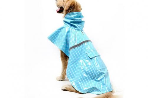 Reflective Raincoat Waterproof Warm Dog Clothes And Reversible Pet Rainy Clothes Outdoor wear Pet Apparel