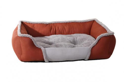 Warm Luxury Comfortable Dog Bed And Removable Washable Large Dog House Back Rest