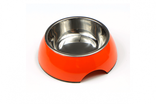 Hot Selling Stainless Steel With Colored Melamine Pet Dog Bowl