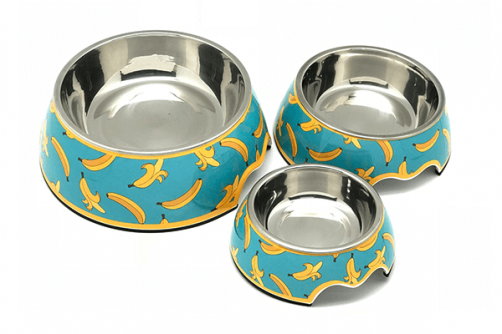 High Quality Melamine Stainless Steel Pet Dishes Dog Water Food Bowl