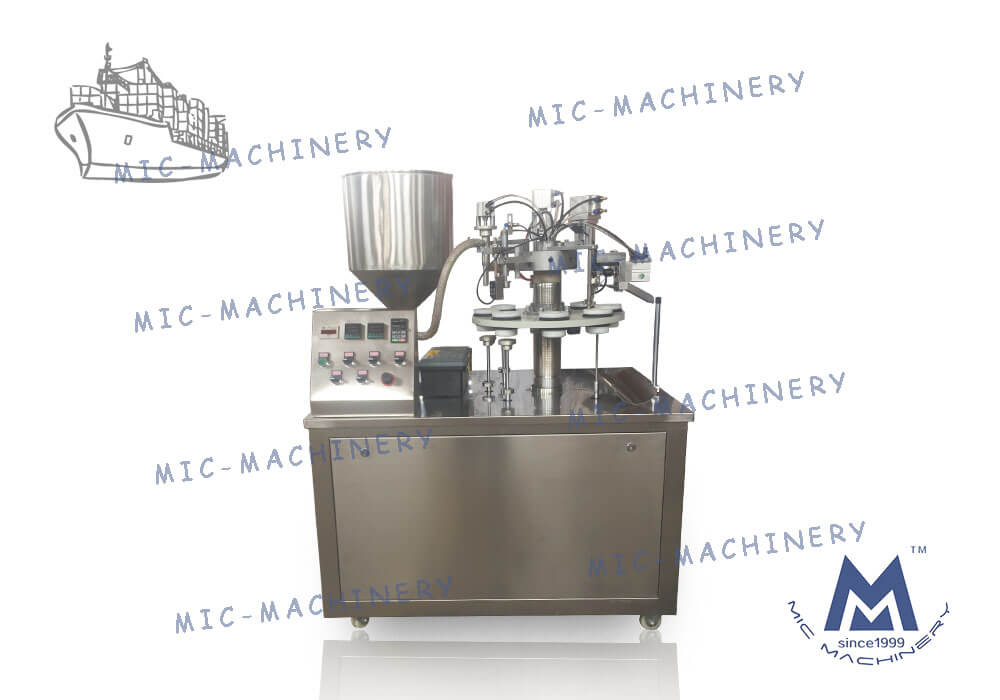 Export to USA of MIC-R30 Semi-auto toothpaste tube filling sealing machine