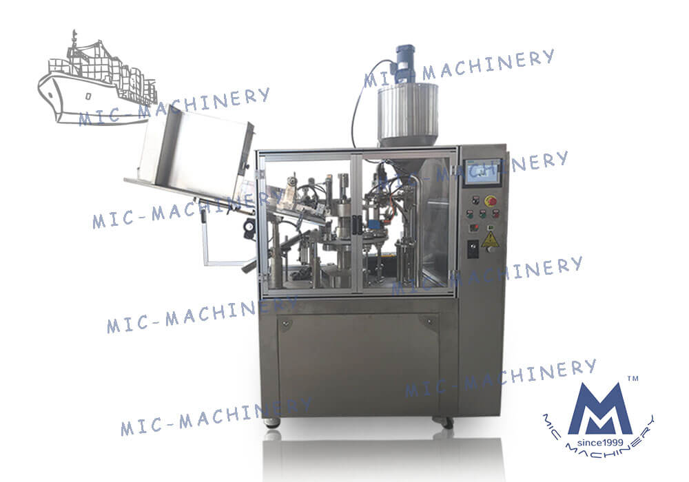 MIC-R60-I filling sealing machine with heating gun export to Kazakhstan