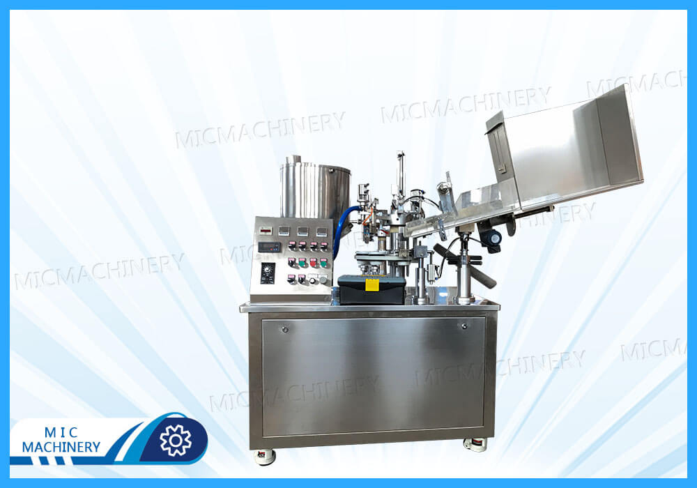 Export to Britain of R45 tube filling and sealing machine