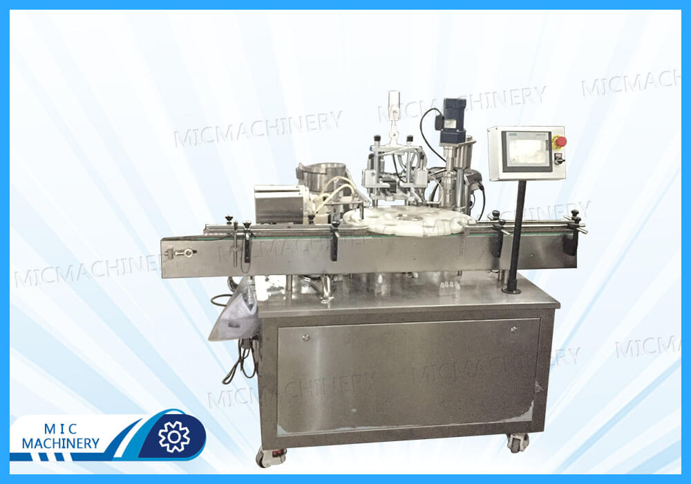 MIC-E40 electronic cigarette filling and capping and labeling machine exported to France