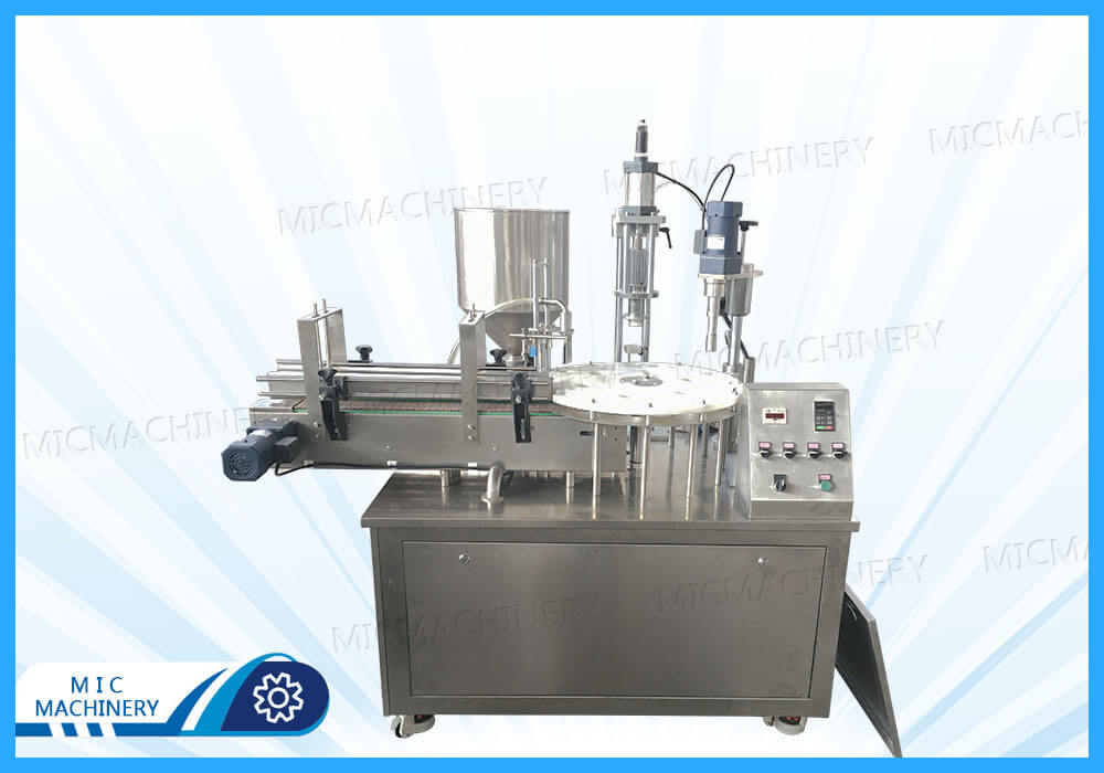MIC-P40 perfume filling capping machine exported to India