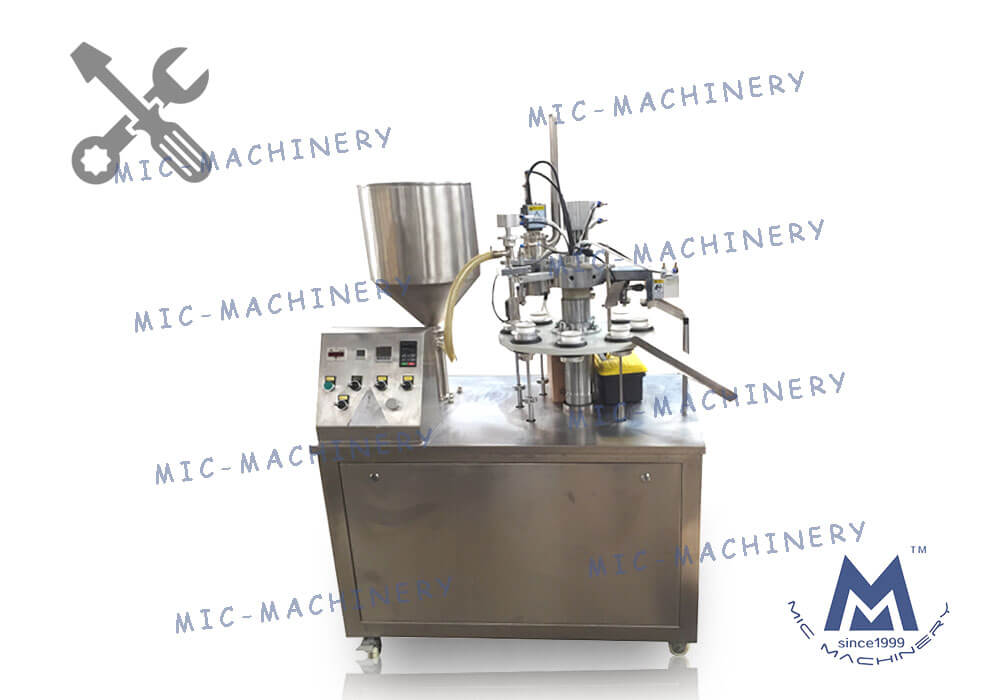 MIC-R30-I semi automatic plastic tube filling machine with heating gun for 3ml tube