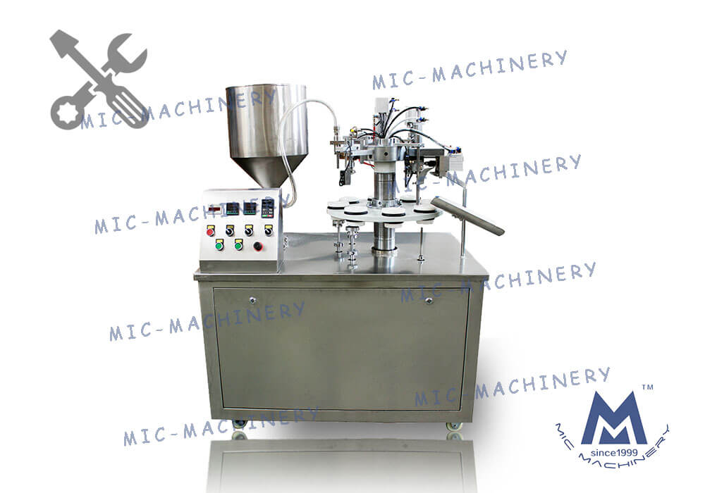MIC-R30 semi automatic soft tube filling machine debugging video