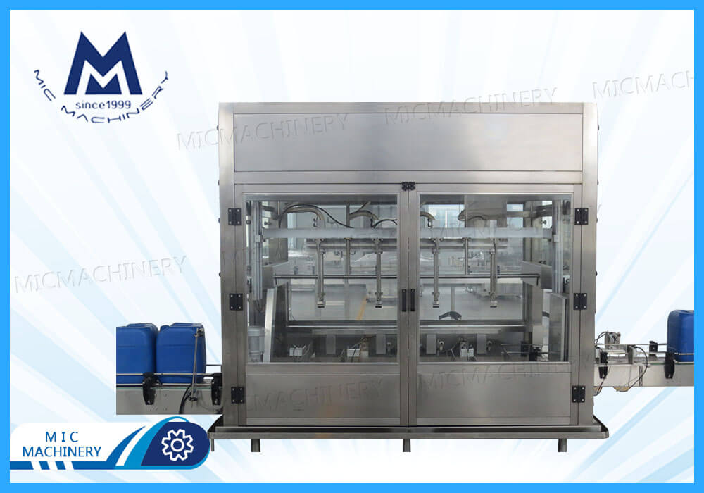 Chemical products filling machine