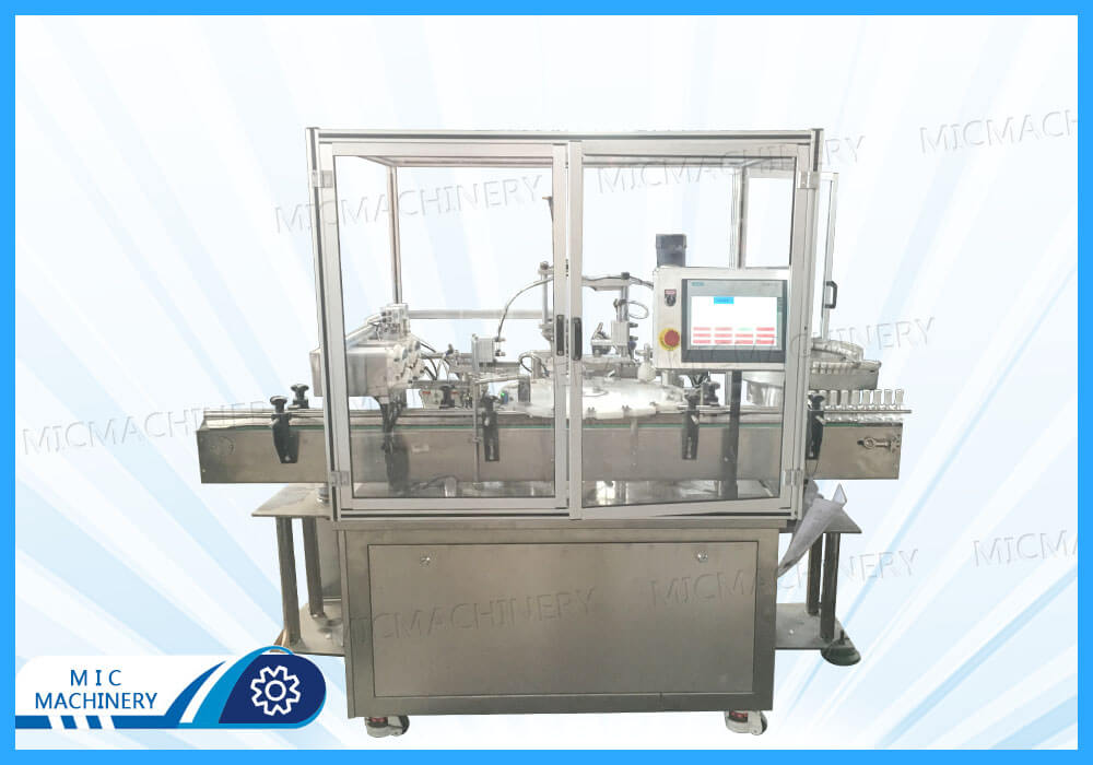 MIC-L40 nail glue filling capping machine shipped to the United States