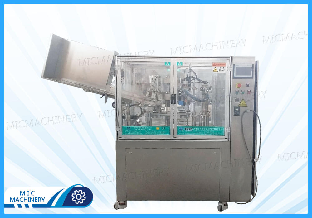 MIC-R60I soft tube filling sealing machine shipped to the United States