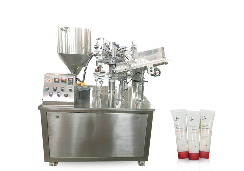 Soft plastic tube cosmetic tube filling sealing machine
