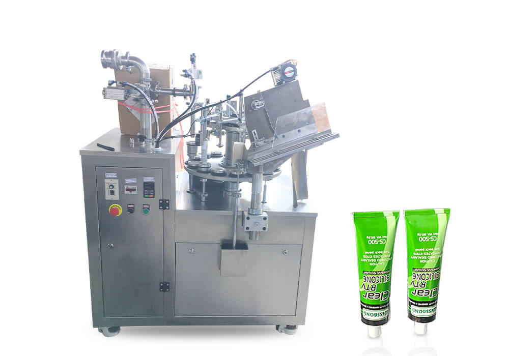 silicone sealant filling sealing machine