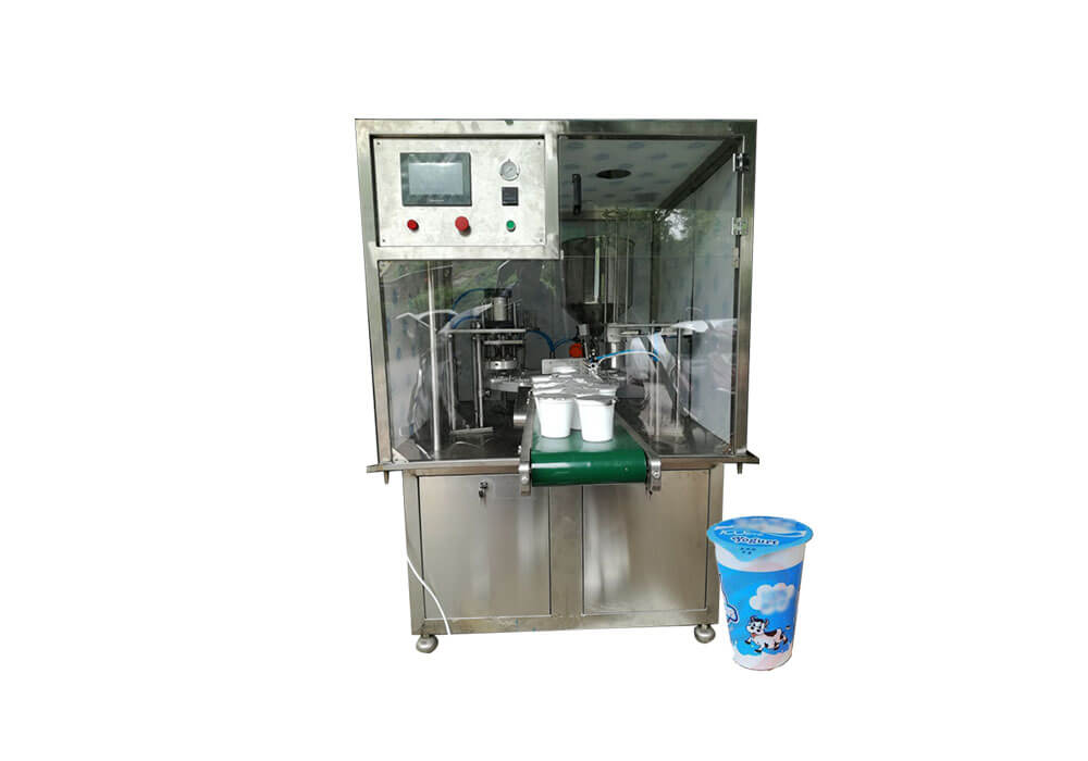 MIC-V01 Automatic Small Cup Filling Machine for Yogurt Export to USA