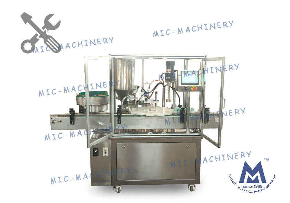 MIC-LL45  Filling Capping Machine Debugging Video