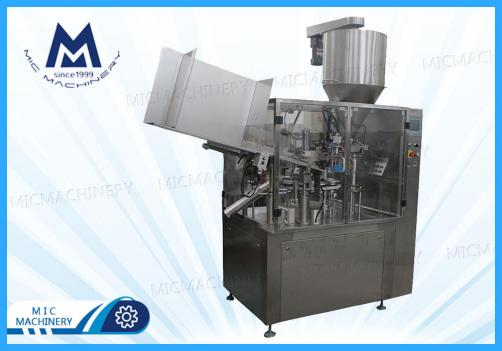 Body lotion filling machine ( MIC-R60 Auto Soft Tube Filling Sealing Machine)