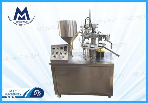 Eye Cream Filling Sealing Machine ( MIC-R30I Soft Tube Filling & Sealing Machine with Swiss Heating Gun)