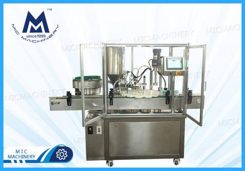 Face cream filling machine(MIC-LL45 turntable jars cream filling and capping machine)