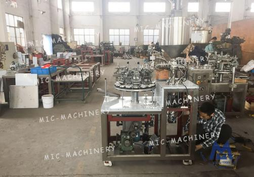 Paint filling sealing machine ( MIC-L30-I Aluminum Tube Filling Sealing Machine )