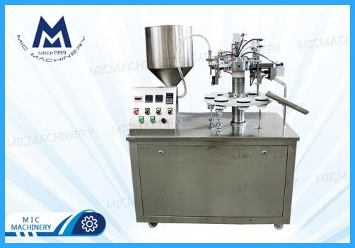 MIC-R30 plastic laminated soft tube filling sealing machine