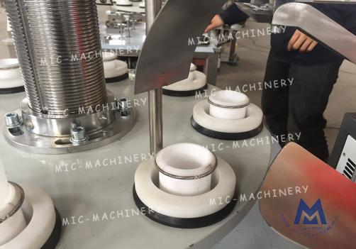 Toothpaste tube filling sealing machine (MIC-R30 aluminum-plastic laminated soft tube filling sealing machine)