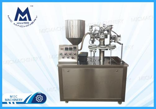 Semi- automatic toothpaste soft tube Filling Sealing Machine( MIC-R30 SEMI-Auto Soft Tube Filling & Sealing Machine)