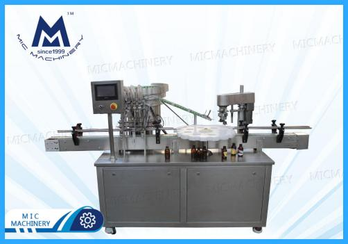 Syrup Filling Capping Machine(MIC-LL45 Small glass bottle liquid filling capping machine)
