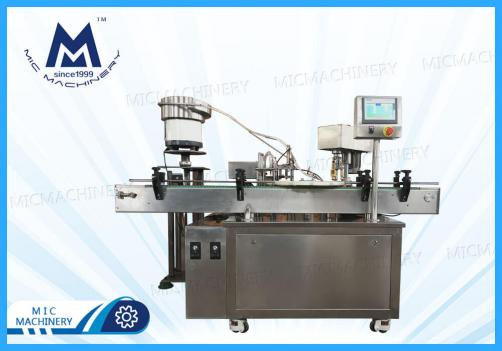 Penicillin bottle filling capping machine ( MIC-L40 Small glass Bottle Filling Corking And Seaming Machine )