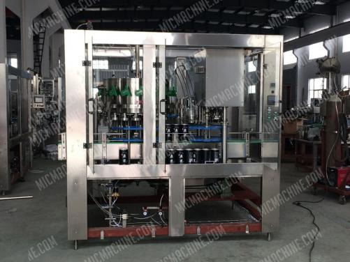 Gas drink filling seaming machine for can package