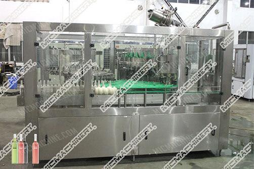 Beer filling capping machine for glass bottle