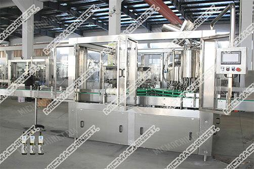 Whisky filling capping machine for glass bottle