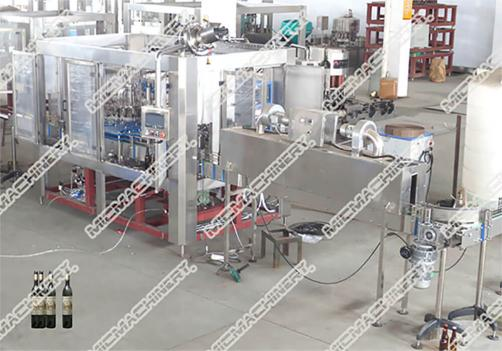 Vodka filling capping machine for glass bottle